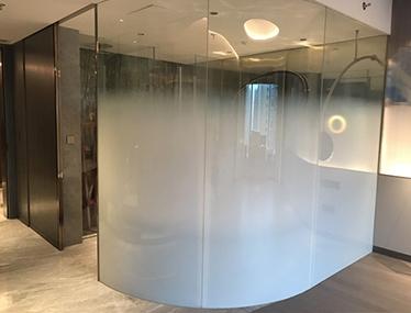 酒店渐变夹胶玻璃